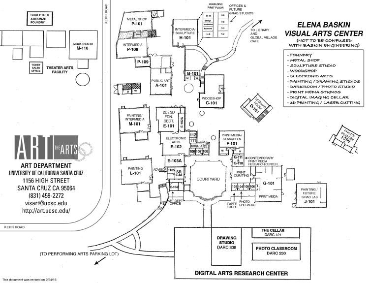 Art Department Map