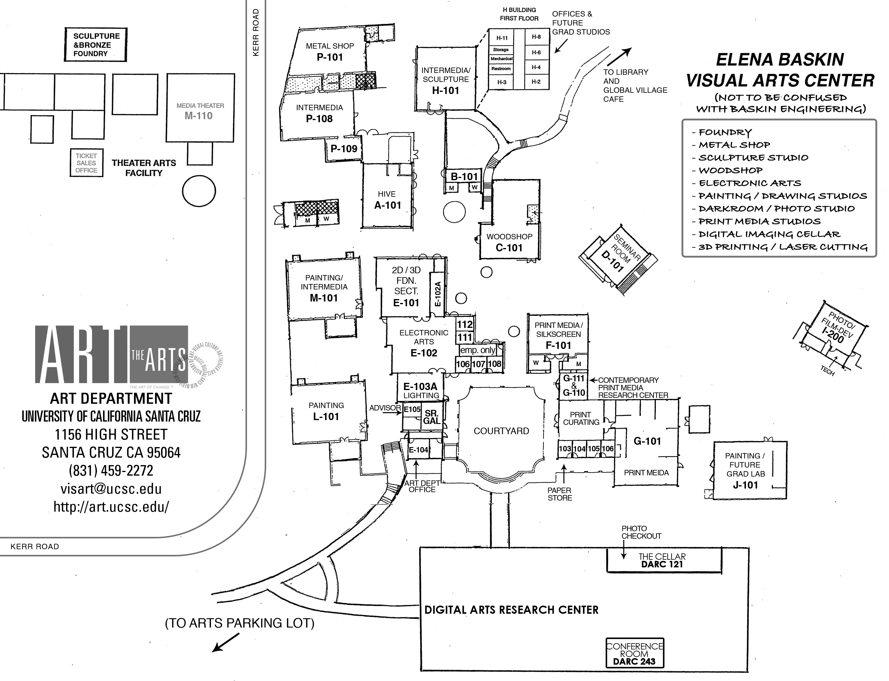 UCSC Art Department Map