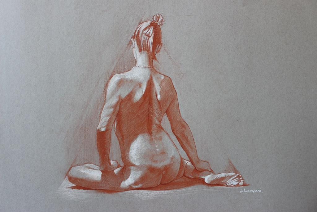 Nude model drawing, porn taboo movie kay