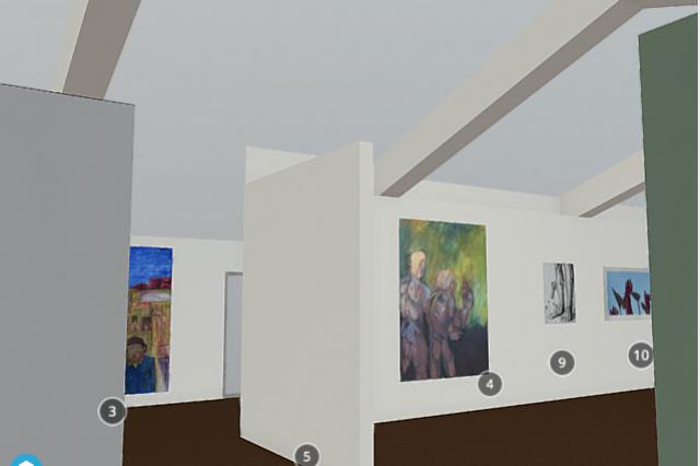 Still image from 3D gallery model