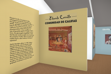 Eduardo Carrillo: Comunidad de Califas virtual exhibition foyer