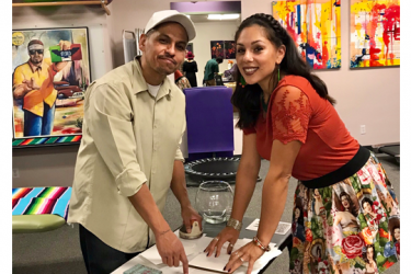 Artists Irene Juárez O'Connell and Victor Cervantes