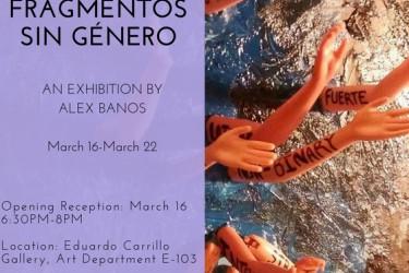 SENIOR SHOW: Alex Banos FRAGMENTOS SIN GÉNERO