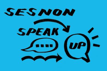 Sesnon Speak Up series logo