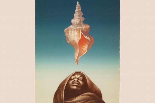 Charles Wilbert White, Love Letter III, 1977, lithograph, 76.2 cm x 56.5 cm