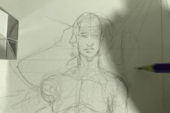 A sketch by artist Saul Villegas