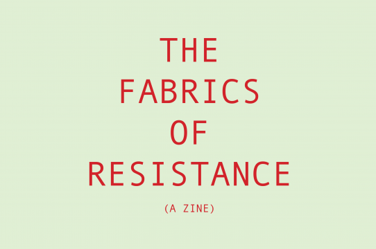 Zine cover of the Fabrics of Resistance