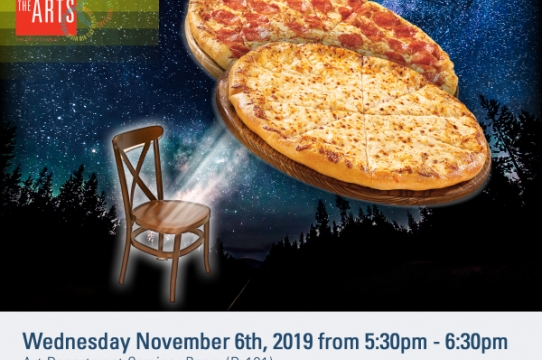pizza with the chair
