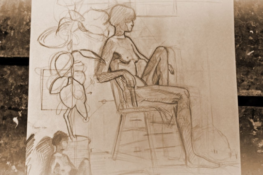 Drop in figure drawing