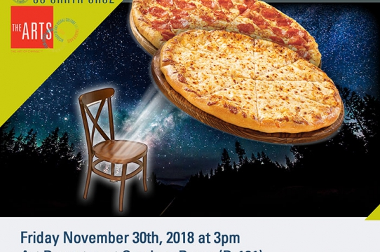 Image of pizza with chair
