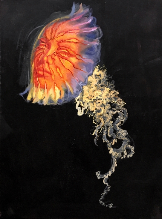 """""""Jelly"""" painting by Willow Moseley"""