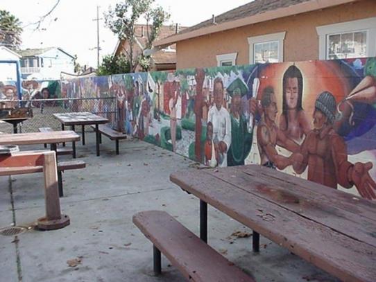 Original mural at Beach Flats Park painted in 1993